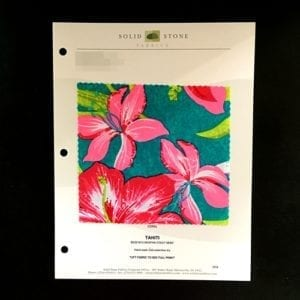 TAHITI FLORAL STRETCH FABRIC PRINTED FABRIC FABRIC SWATCH COLOR CARD