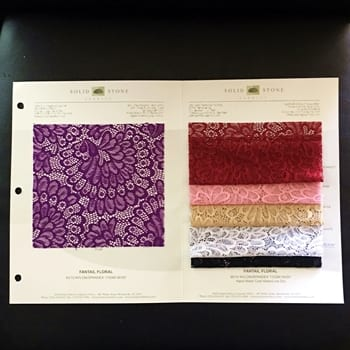 Stretch Lace Fabric Swatches