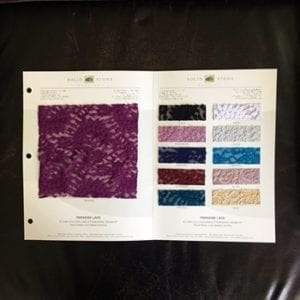 Floral Lace Fabric Swatches