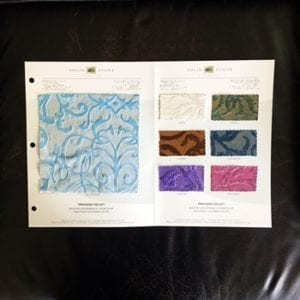 Embossed Velvet Fabric Swatches