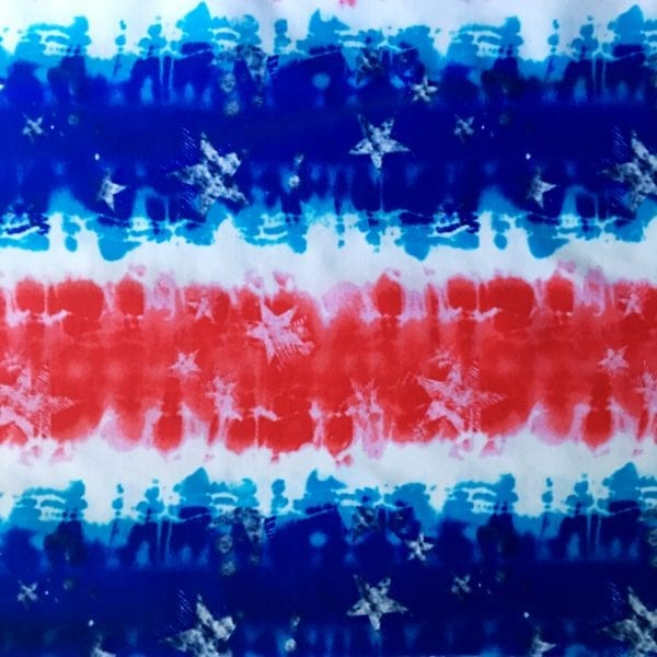 Patriotic Themed Fabric Print