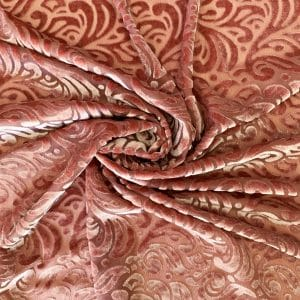 Pink Velvet Burnout Fabric