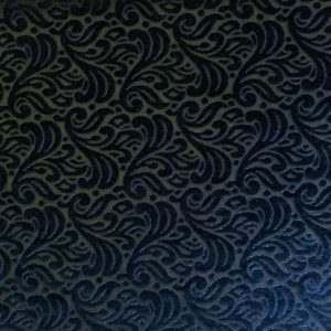 Green Velvet Burnout fabric features an elegant baroque style pattern from richly colored, plush stretch velvet.