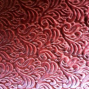 Pink Velvet Burnout fabric features an elegant baroque style pattern from richly colored, plush stretch velvet.
