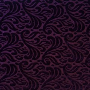 Purple Burnout Velvet fabric features an elegant baroque style pattern from richly colored, plush stretch velvet.