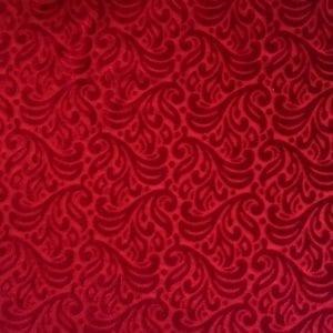 Red Velvet boutique burnout fabric