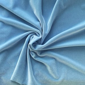 Solid Light Blue Velvet Fabric - Stretch Velvet By The Yard - Solid Stone Fabrics, inc.