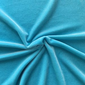 Solid Cancun Blue Velvet Fabric - Velvet Fabrics by the Yard - Solid Stone Fabrics, Inc.