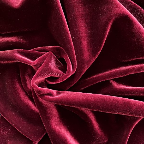 Solid Burgundy Velvet Fabric - Specialty Fabrics by the Yard - Solid Stone Fabrics, Inc.
