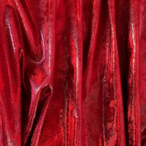 Red Mystique Stretch Velvet Fabric - Red Metallic Velvet Fabric By The Yard - Solid Stone Fabrics, Inc.