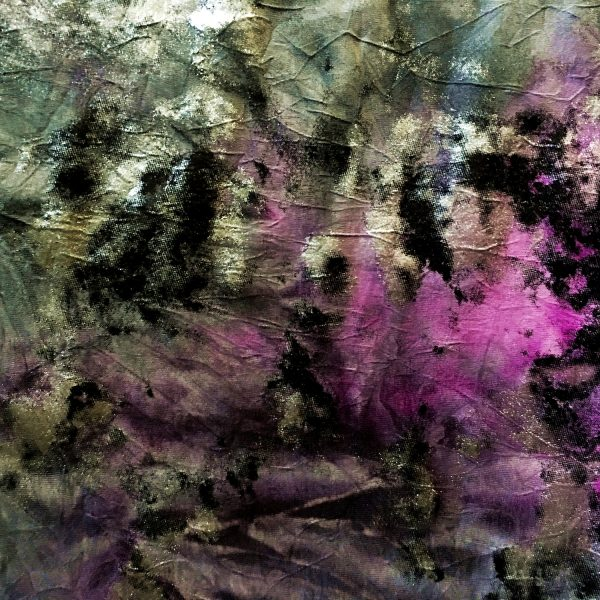Vintage Purple Distressed Foil fabric features multiple distressed foils in shades of grey, black, silver and purple with a subtle crinkly texture, for lots of textural interest. - Online Fabric Shop - Solid Stone Fabrics, Inc.