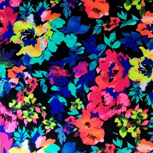 Floral Print Stretch Fabric for Swim