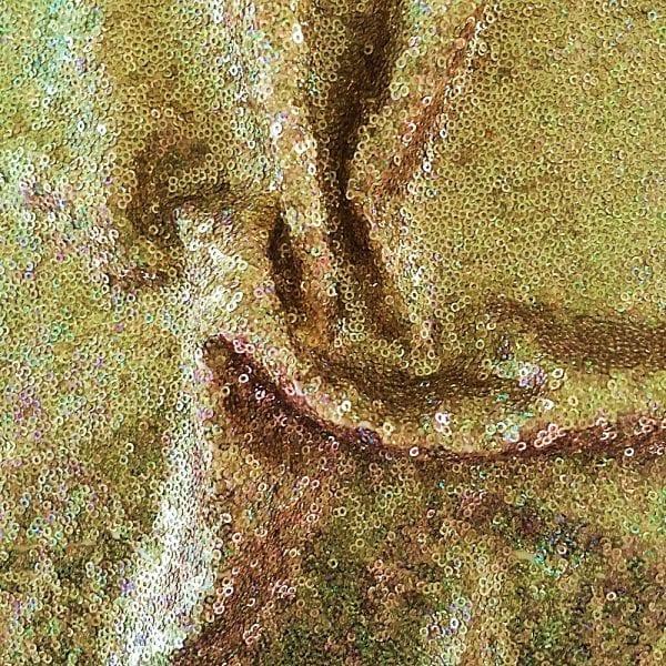 Gold Hologram Sequin Fabric