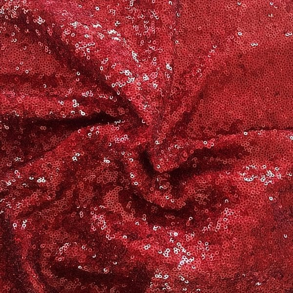 Red Hologram Sequin Fabric