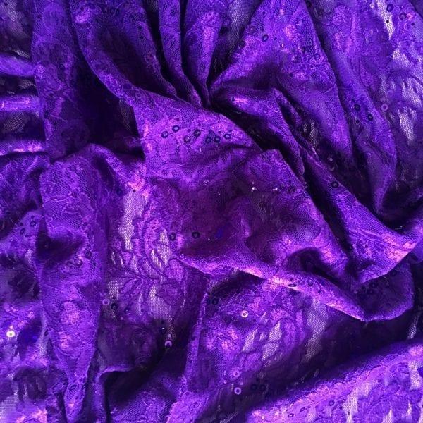 Purple Lace Fabric