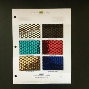 Honeycomb Mirror Sequin Fabric Swatches