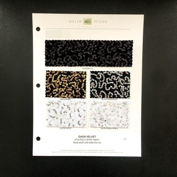 Sequin Velvet Fabric Swatches