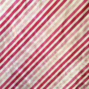 Pink Striped Fabric Print on Crushed Velvet