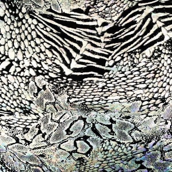 Silver Animal Print Fabric
