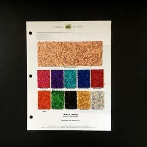 Hologram Sequin Fabric Swatches / Color card