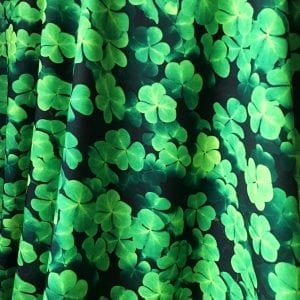 Clover Print Fabric on Carvico VITA recycled yarn print base.