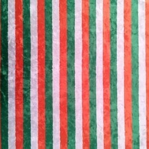 St. Patrick's Day Stripe Fabric Print on Crushed Velvet