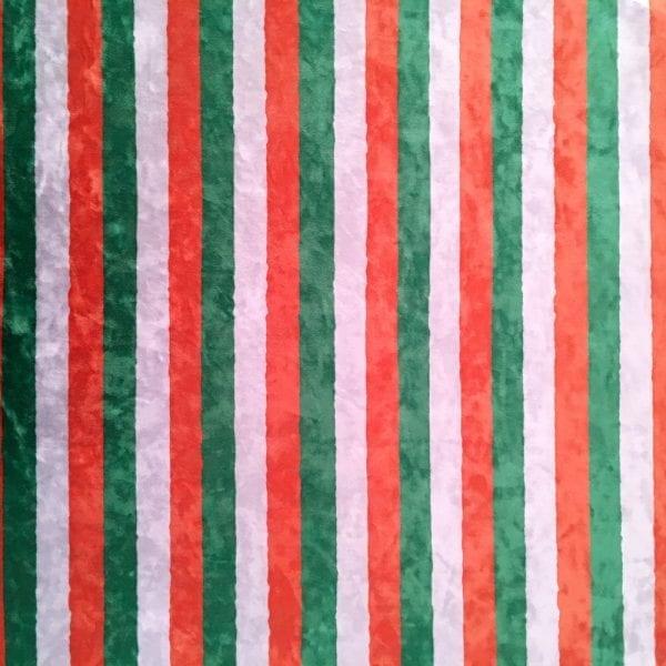 St. Patrick's Day Stripe Fabric Print on Crushed Velvet