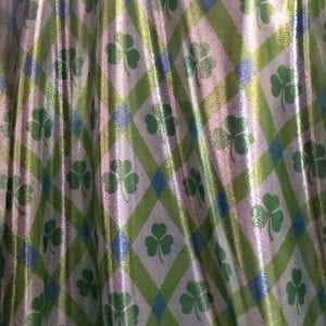 St. Patrick's Day plaid print on Metallic Sheen