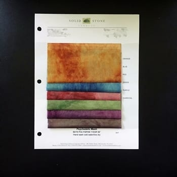 Psychedelic Tie Dye Mesh Swatches / Color card