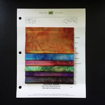 Psychedelic Tie Dye Swatches / Color card