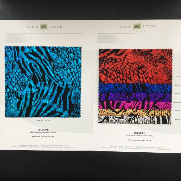 Animal Print Hologram Fabric Swatches - Solid Stone Fabrics, Inc.
