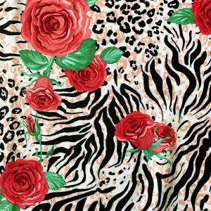 FLORAL ANIMAL PRINT FABRIC BY THE YARD