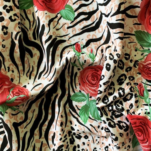 FLORAL ANIMAL PRINT FABRIC BY THE YARD OR ROLL - SOLID STONE FABRICS, INC.
