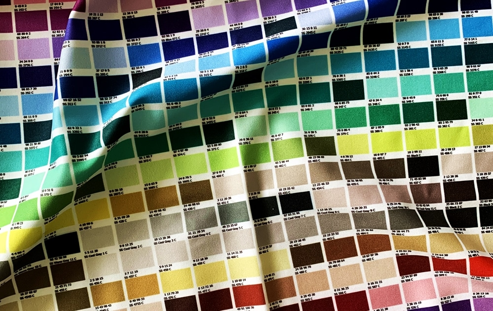 color chart custom fabric printing wide