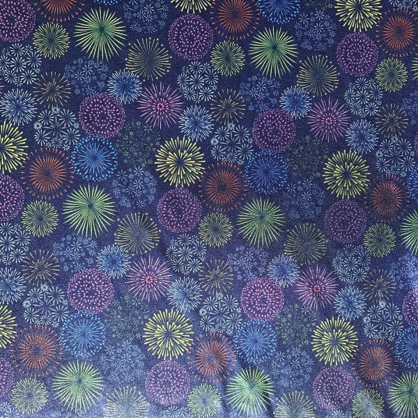 FIREWORKS PRINTED STRETCH FABRIC BY THE YARD - SOLID STONE FABRICS, INC. - STOCK FABRICS AND CUSTOM FABRIC PRINTING SINCE 2003