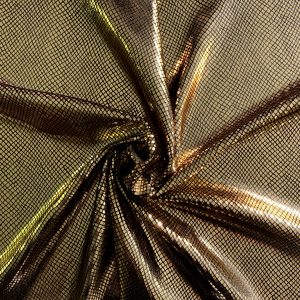 Gold Snakeskin Velvet Fabric