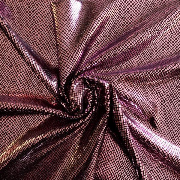 Pink Snakeskin Foil Velvet