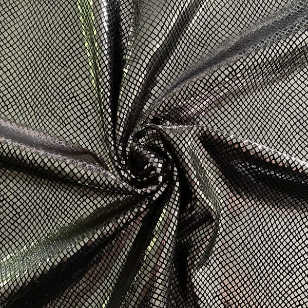 Grey Snakeskin Velvet Fabric