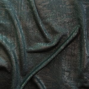 Black Metallic Knit fabric swatches features 4 way stretch polyester spandex knit mixed with tonal foil for lots of textural interest.