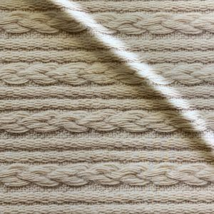 Cable Knit Printed Fabric