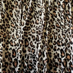 Cheetah Print Crushed Velvet Fabric