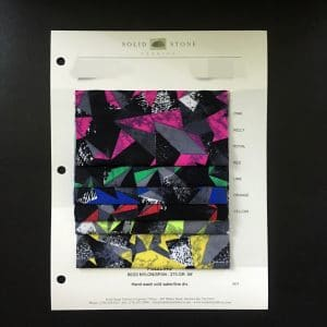 Triangle Print Fabric Swatches