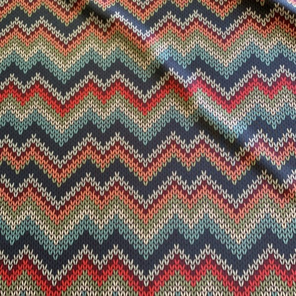 Sweater Knit Print Fabric