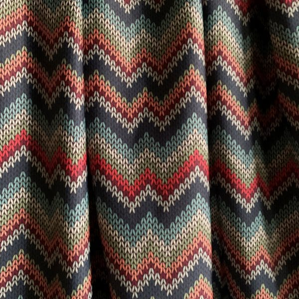 Sweater Knit Print Fabric - Econyl Recycled Nylon Fabric - Perfect for swim, leggings and more