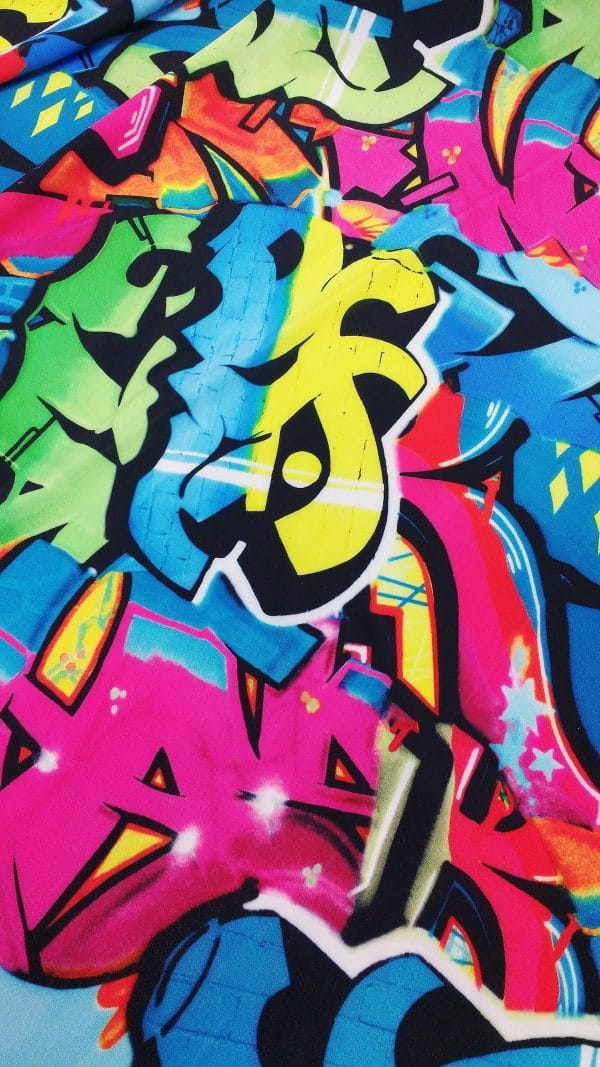 GRAFFITI PRINT FABRIC - SOLID STONE FABRICS, INC.