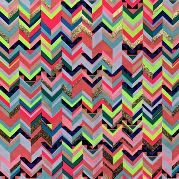 CHEVRON PRINT STRETCH FABRIC