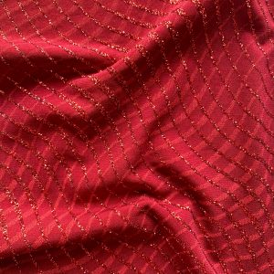Burgundy Glitter Knit Fabric