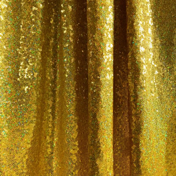 Chartreuse Hologram Sequin Fabric