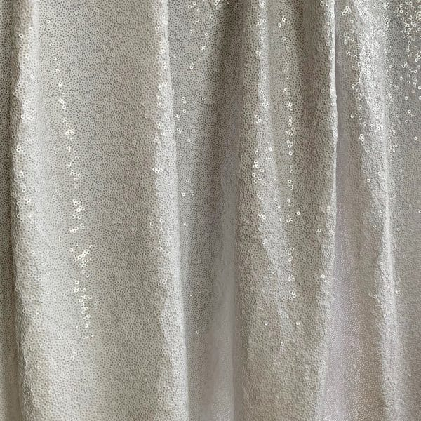 White Full Coverage Sequin Fabric