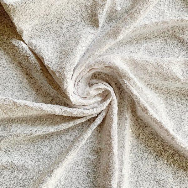Wholesale White Sequin Fabric
